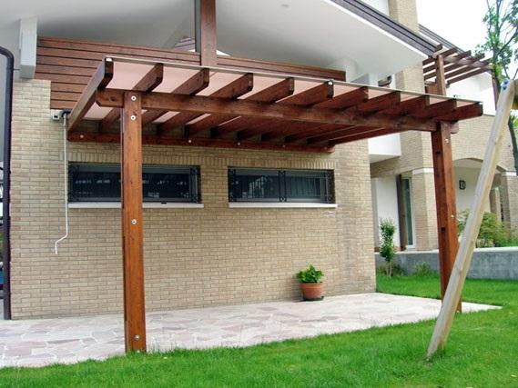 Arcosol Pergolato in legno mobile mod 1