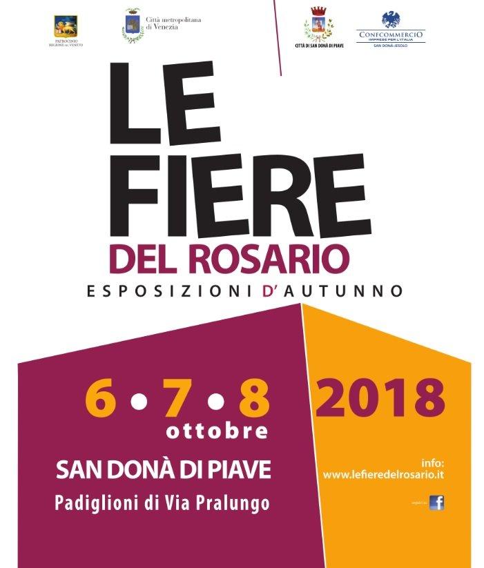 FIERA DEL ROSARIO DI SAN DONA' DI PIAVE DAL 6 AL 8 OTTOBRE 2018