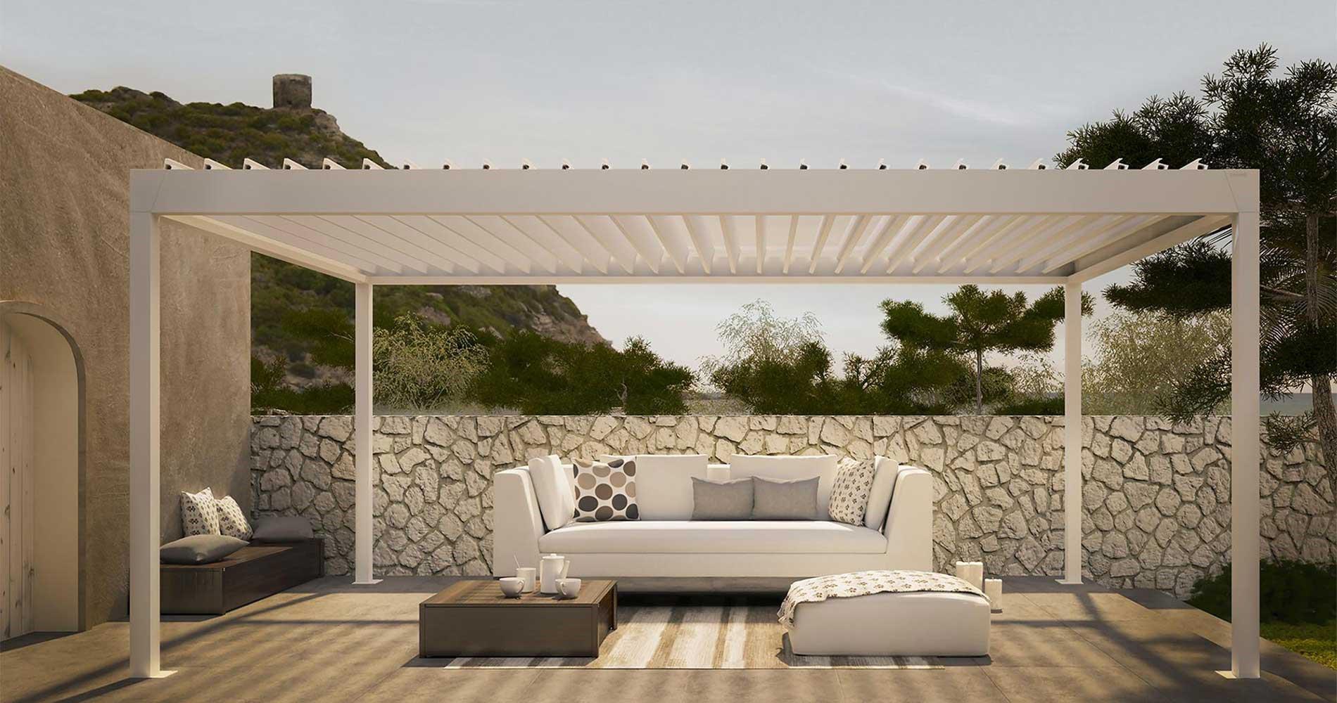 Tende da sole e tende esterno moderne su misura for Terrazzi arredamento da esterni